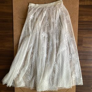 NWOT - Free People Lace Skirt
